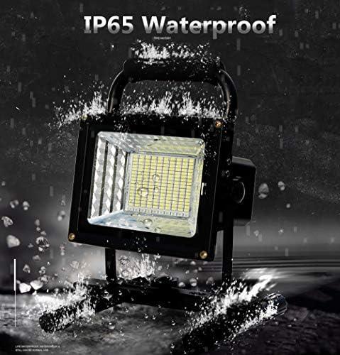 200W 10000 LM LED Bauleuchte Flutlicht, Wiederaufladbare Tragbar Baustrahler Schwarz, 130 LEDs, mit Fernbedienung, Akku 24000mAh, IP65 Wasserdicht Arbeitslampe für Werkstat Garage Camping