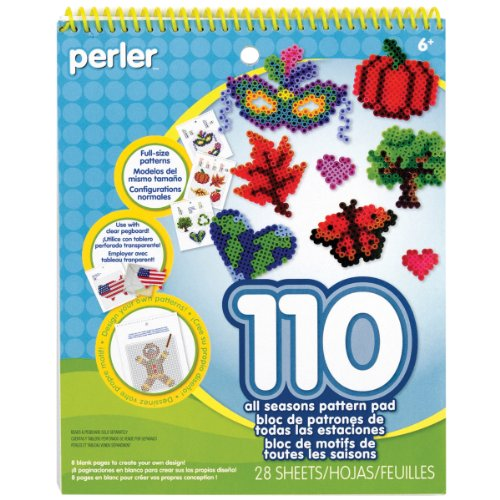 Perler Beads Pattern Pad, All Seasons, 28 pgs -