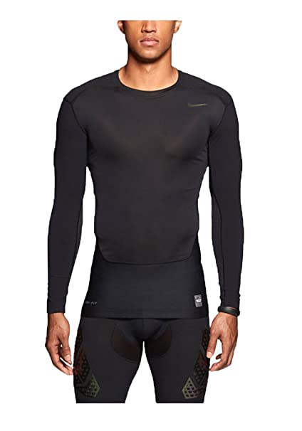 323e6e0c Image Unavailable. Image not available for. Color: Nike Mens Pro Combat  Hypercool Vapor Power Compression Shirt Black