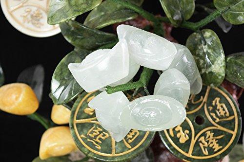 Vintage Chinese Carved Jade & Semi Precious Stone Shohin Bonsai Tree # 104 by Calibonsai (Image #8)