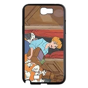 Samsung Galaxy N2 7100 Cell Phone Case Covers Black 101 Dalmatians Character Anita Radcliffe TQ7199741