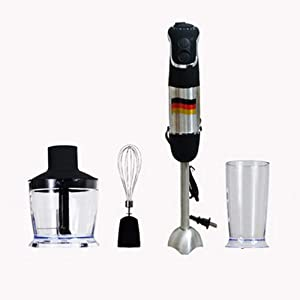 GYJ Immersion Hand Blender, House Kitchen Blender with Stainless Steel Shaft and Blade, Easily Food, Mixes Sauces, Purees Soups, Smoothies, Dips