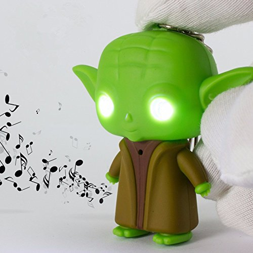 Stars Wars Yoda (G0117 Star War Jedi Master Yoda with Sound and Led Flashlight Action Figure Toys Keychain)