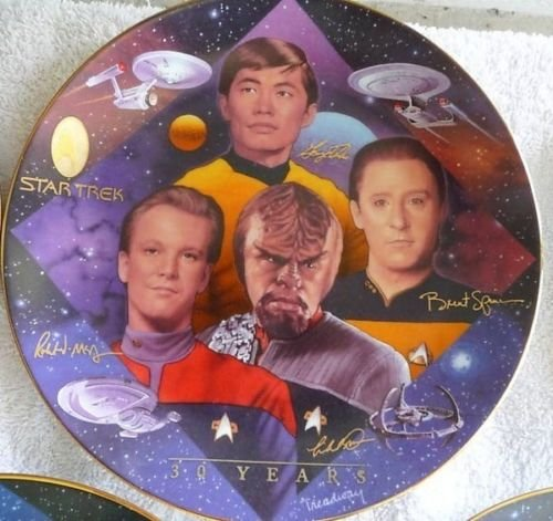 Collector Plates Collectibles - Star Trek 30th Anniversary Collector's Plate