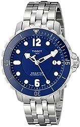 Tissot Men's T0664071104702 Seastar Analog Display Swiss Automatic Silver Watch