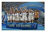 USA World Cup Women's Soccer Team Champions Poster Glossy High Quality Print Photo Wall Art Limited Celebrity Sports Megan Rapinoe Alex Morgan Carli Lloyd Size 24x36#2
