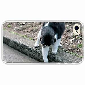 iPhone 4 4S Black Hardshell Case playful walk Transparent Desin Images Protector Back Cover