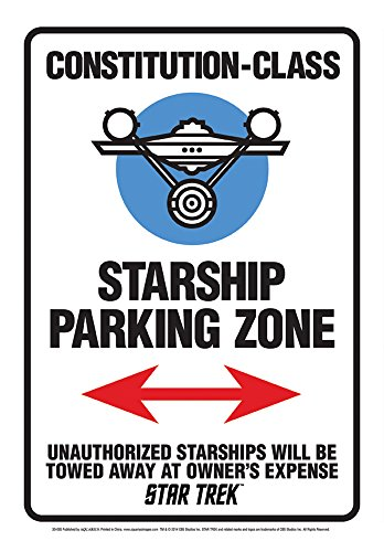 Aquarius Star Trek Starship Parking Tin Sign