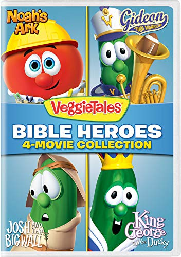 (VeggieTales: Bible Heroes - 4-Movie Collection (Noah's Ark / Gideon Tuba Warrior / Josh and the Big Wall / King George and the Ducky))