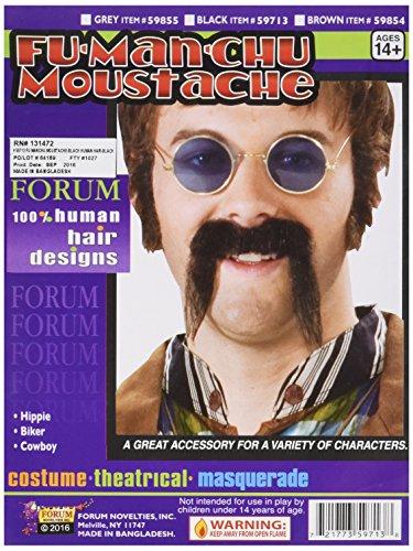 Forum Novelties 59713 Fu Manchu Moustache, -