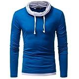 Ankola Men's Autumn Sweater,Men's Autumn Winter Long Sleeve Sweatshirt Tops Blouse (M, Blue)