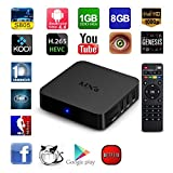 RBSCH MXQ android tv box Amlogic S805 Quad Core Google Android 4.4 1gb RAM 8gb Flash Kodi Pre installed Support H.265 Wifi Smart Media Player