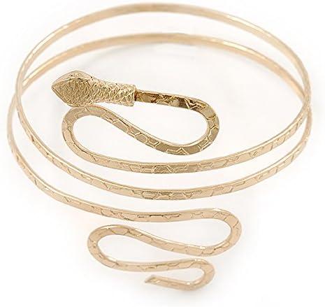 Bracelet brassard serpent plaqu/é or martel/é jusqu/à 27 cm haut du bras