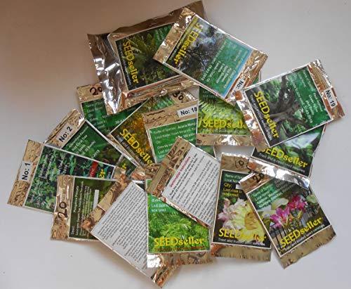 SEEDseller Rare Tree Seeds Combo Pack, 20 Varieties Seeds for Growing