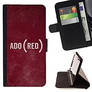 Jordan Colourful Shop - text language ADO rustic texture For Apple Iphone 5C - Leather Case Absorci???¡¯???€????€?????????