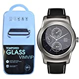lg g watch accessories - LG G Watch R Urbane W150 Screen Protector,VIMVIP Premium Tempered Glass Screen Protector Film Guard for Smart LG G Watch R Urbane W150 (W150)