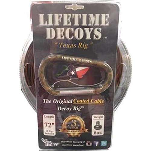 Lifetime Decoys 72'' 6 oz Coated Cable Decoy Rig w/Carabiner by Lifetime