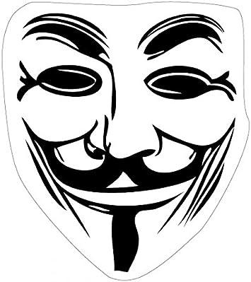 Amazon Com 1art1 V For Vendetta Poster Sticker Wall Tattoo Guy