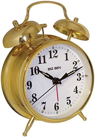 Westclox Big Ben Twin Bell Silver Analog Alarm Clock Battery Powered Metal Case