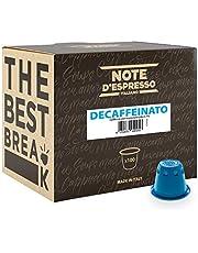 Note D'Espresso Decaffeinato Caffè in Capsule esclusivamente Compatibili con Sistema Nespresso* - 560 g (100 x 5.6 g)