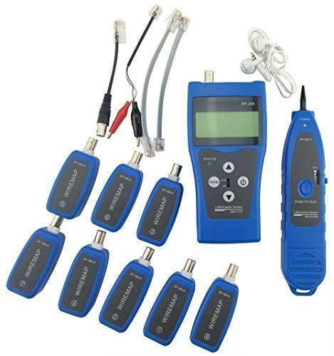Noyafa NF-388-L Multipurpose Network Cable Tester Tracker Tracer with 8 Far-end Jacks for Test Ethernet LAN Phone wire USB coaxial