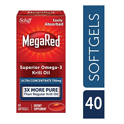 MegaRed Ultra Concentration Omega Krill Oil 750mg, 40 ct (Pack of 12) by Schiff (Image #1)