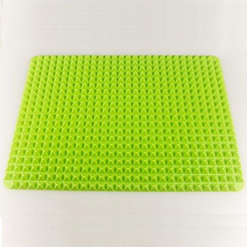UPC 600089835656, Hippih Non Stick Heat Resistant Raised Pyramid Shaped Healthy Cooking Silicone Baking Mat, Roasting Mats (Green)