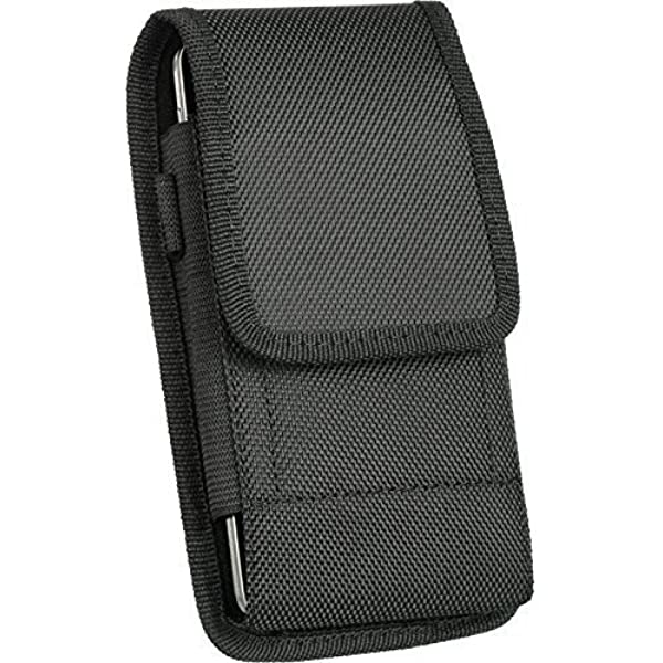 For Apple IPhone 7 iPhone 7 Holster Modes Wireless Black Pouch Holster Nylon Velcro Case Metal Belt Clip Fits Phone+Otterbox Defender//Commuter//Symmetry//Lifeproof Cover On