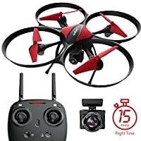 Force 1 U49C Drone with Camera, 15-Min. Flight Time, Altitude Hold, Headless Mode, Bonus Drone Battery, 4GB SD Card, 2 Extra Motors, RC Drone Camera - Drone for Kids and Beginners