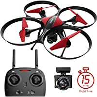 Force1 U49C Drone with Camera, 15-Min. Flight Time, Altitude Hold, Headless Mode, Bonus Drone Battery, 4GB SD Card, 2 Extra Motors, RC Drone Camera - Drone for Kids and Beginners