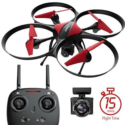 Force1 U49c Drone With Camera  15 Min  Flight Time  Altitude Hold  Headless Mode  Bonus Drone Battery  4Gb Sd Card  2 Extra Motors  Rc Drone Camera   Drone For Kids And Beginners