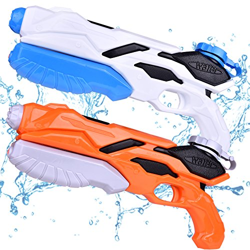 Watergun Toys for Kids, Pool Toys, Water Soaker Blaster Squirt Toys, Summer Water Games, Pool Party Favors 2PCs
