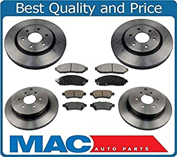 Front Rear Disc Brake Rotors And Ceramic Pads Kit For Nissan Pathfinder