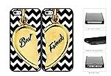 Best Nue Design Cases Friend 5c Phone Cases - Best Friends Heart Charm Black And White Chevron Review