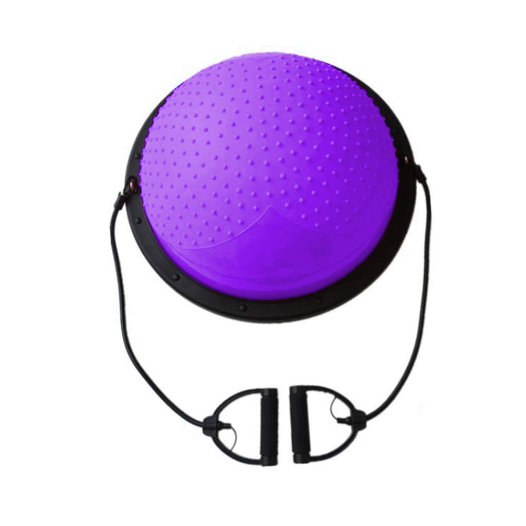 ヨガジムボール、屋内半円バランスボールトレーニング妊婦産後復元フィットネス機器痩身重量ヨガボールを失う,Gray B07KQXCX3H Purple Purple
