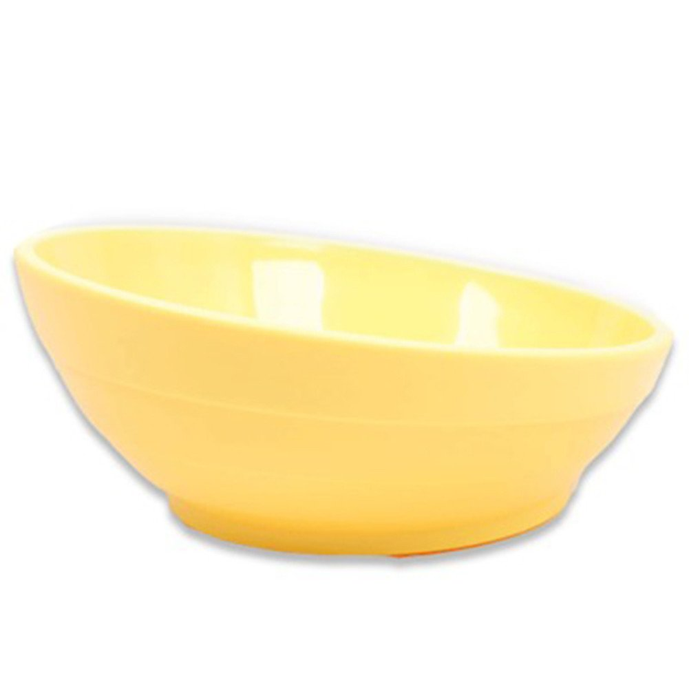 Forever-You Beveled cat Bowl Flat face cat Bowl Dog Food Bowl Bowl Resin Drop, Yellow