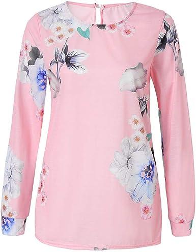 HEETEY - Camisas - para Mujer Rosa S: Amazon.es: Ropa y accesorios