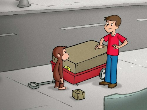 Wagon Package - George Fixes Betsy's Wagon/Curious George Takes a Dive