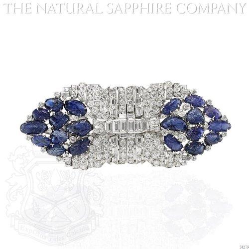 Diamond & Sapphire Brooch - 5