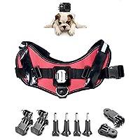 ASOCEA Adjustable Fetch Harness Dog Chest Strap Belt Mount for Gopro Hero 5/4/3+/3/2/1 SJCAM AKASO APEMAN ODRVM YI 4k Action Cameras
