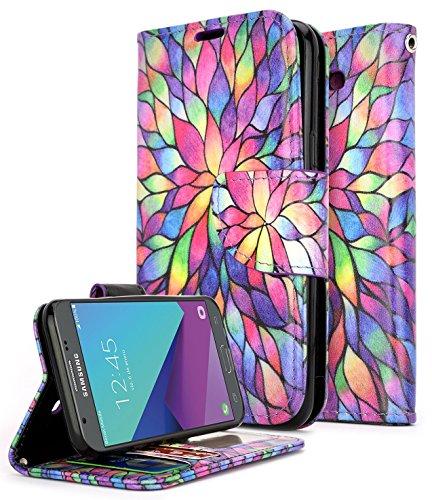 ZTE Maven 3 Case, ZTE Overture 3 Case, ZTE Prelude Plus Case(4G LTE), NageBee [Kickstand Feature] Premium PU Leather Flip Fold Wallet Case with [ID&Credit Card Slot] (Purple) (Zte Net Phone 10 For Cases)