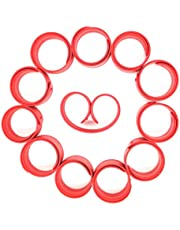 LEEUEE 12Pcs Silicone Slap Bracelets Toy, Slap Bands for Kids - Soft & Safe for Kids Boys and Girls Party Favors- Durable - Customize & Reuse!