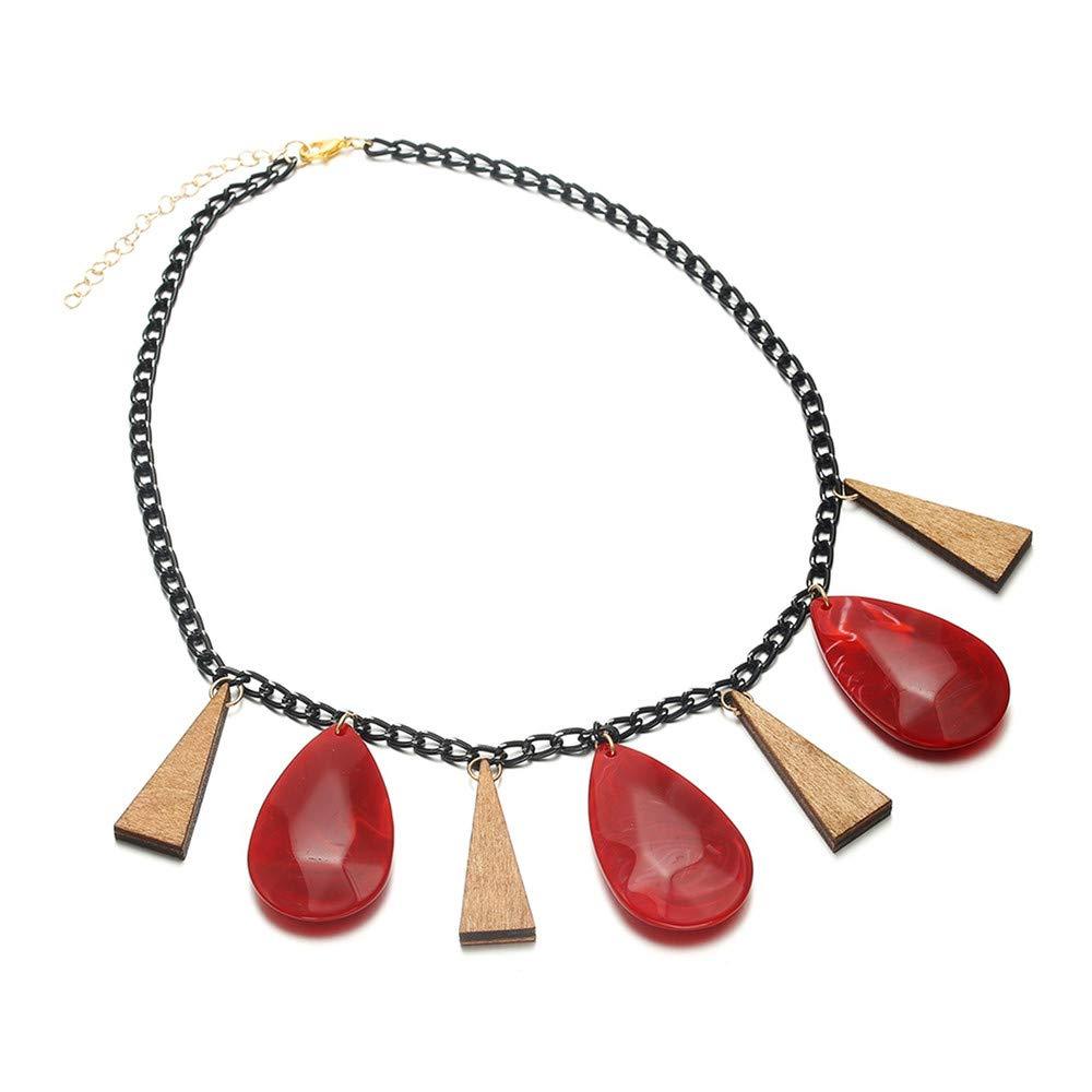 EOSKLCN /& Pendants Women//Statement//Big//Wood//Vintage//Lady//Choker Women Jewelry//Pendant Necklace
