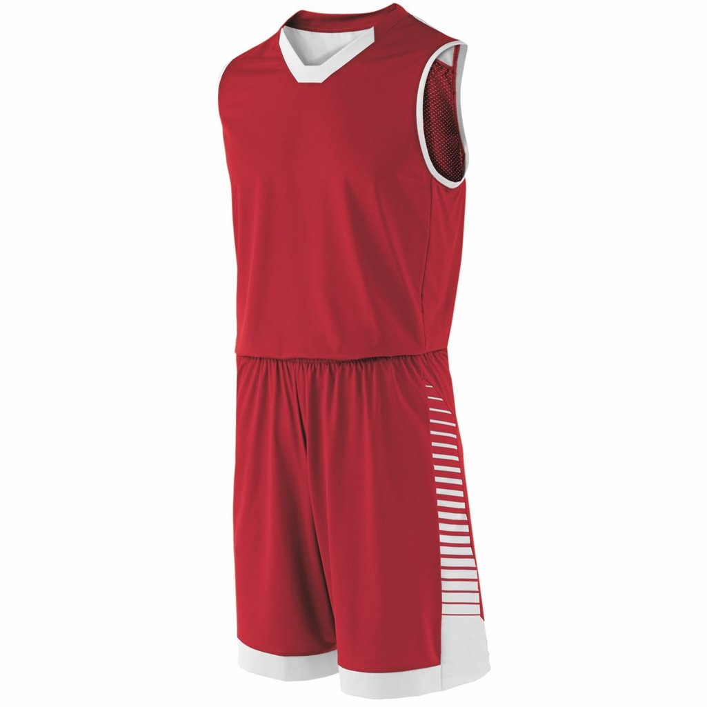 Holloway Youth Arc Short (X-Large, Scarlet/White) by Holloway