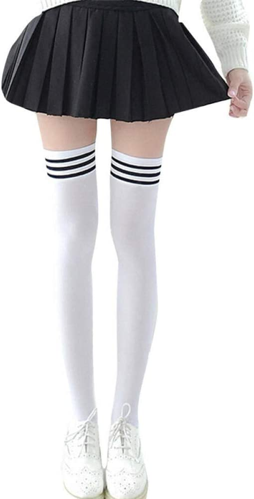 Home +stockings Medias Atractivas Calcetines A La Rodilla A Rayas ...