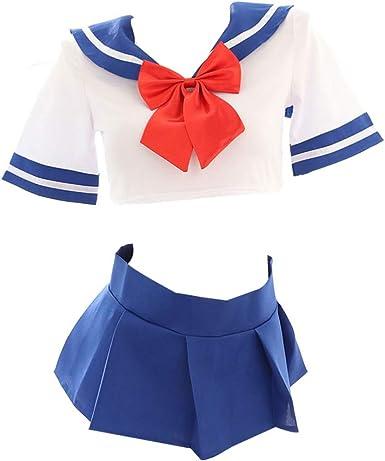 Amazon.com: Yomorio - Traje de marinero con falda plisada ...