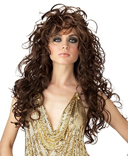 Fancy Seduction Girls Gone Wild Adult Costume Wig - Blonde BlackBrown (Wild Zebra Adult Womens Costume)