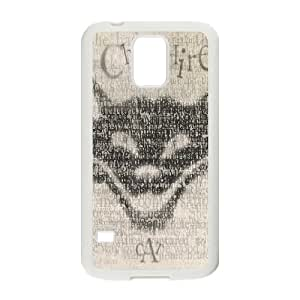 Characteristic Funny Phone Case Cheshire Cat For Samsung Galaxy S5 send Tempered Glass Screen Protector NP4K02872