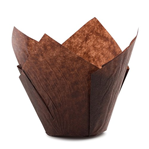 Tulip Standard Cupcake Liners Wrappers Colors (Brown, 200)