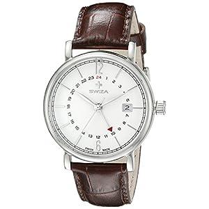Swiza Men's WAT.0142.1001 Alza Analog Display Swiss Quartz Brown Watch